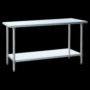 Stainless steel work table - commerical unit - free shipping