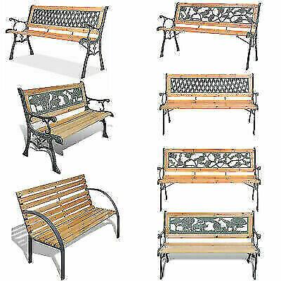 Garden Furniture - Patio Garden Bench Chair Park Yard Outdoor Chair Furniture Cast Iron Legs