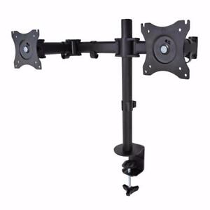 "PrimeCables® Dual LCD adjustable monitor desk mount (Two screens up to 27"")"