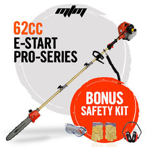 NEW MTM 62cc Long Reach Pole Chainsaw Pruner Petrol Chain Saw Brush Tree Cutter