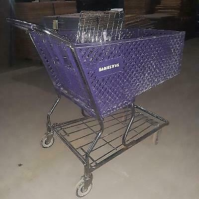 Shopping Carts Lot 8 Purple Plastic Baskets Used Grocery Store Fixtures Buggies