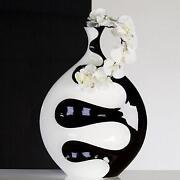 Vase Schwarz Weiß