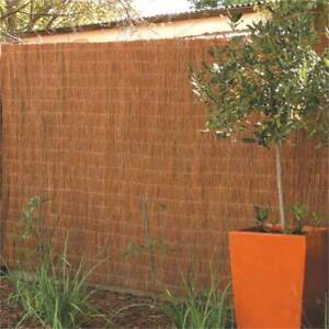 Garden Trend 3 x 1.8m Natural Brushwood Fence Screening X QTY 2 Albany Creek Brisbane North East Preview