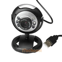 NEW,,,, USB 6 LED Video Camera Webcam With Mic Microphone For PC