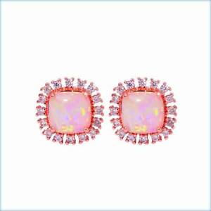 PINK FIRE CREATED OPAL STERLING SILVER & ROSE GOLD FILL STUDS. Rothwell Redcliffe Area Preview