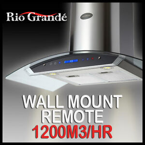 NEW-RIO-GRANDE-STAINLESS-STEEL-COMMERCIAL-900MM-Range-Hood-Glass-Kitchen-Canopy