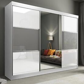 🎄🎄New HIGH GLOSS MANHATTAN Wardrobe Now on For Sale🎄🎄Don't Wait Order Now🎄🎄