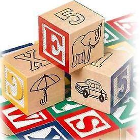 30 Wooden ABC & 123 Building Blocks Kids Alphabet Letters Numbers Bricks Toy Set FREE PP £15