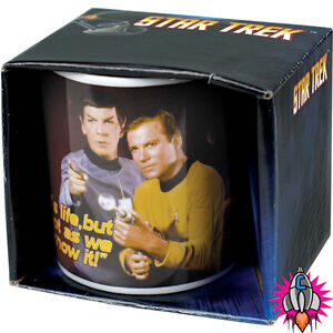 STAR TREK RETRO ITS LIFE BUT NOT AS WE KNOW IT MUG COFFEE CUP NEW IN GIFT BOX