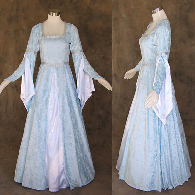 Medieval Renaissance Gown Dress Costume LOTR Wedding M on Rummage