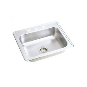 "Top mount Stainless Steel Sink - 9"" deep 25 x 22 x 9"