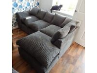 *******Dylan Jumbo Cord Corner Sofa and 3+2 Seater Sofa Set Same Price (4 Different Colors)