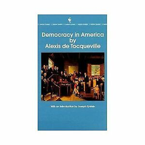 tocqueville essays Essay on democracy in america 664 words | 3 pages democracy in america by: alexis de tocqueville democracy in america, by alexis de tocqueville is a book about how the american states and the federal government would grow politically and socially under the umbrella of democracy.