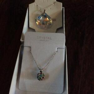 Sterling silver and crystal necklace (new) 10 each