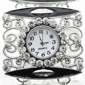 NEW SPARKLING CREATED DIAMONDS SILVER WRISTWATCH / BRACELET