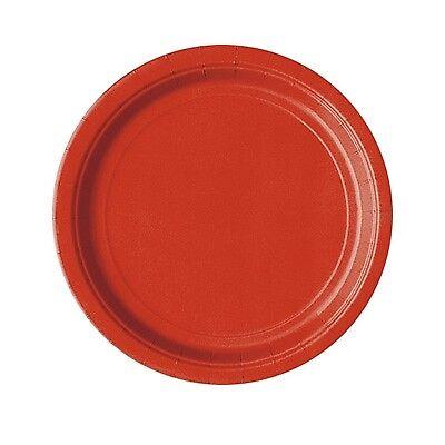 rote Partyteller, Party-Pappteller, Einwegteller rot, 8er Pack, d=18cm (Rot Party Pappteller)