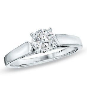 14 kt Gold 0.34 C.T. Diamond Solitaire Engagement Ring St. John's Newfoundland image 1