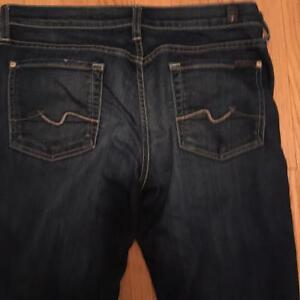 SEVEN FOR ALL MANKIND LADIES JEANS SZ 29/32