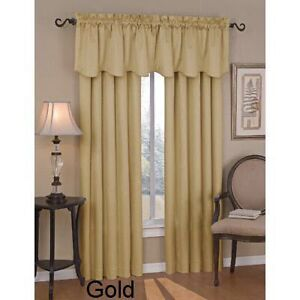 2 Eclipse Canova Insulated Panels and Valance Gold, New