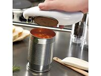 Tin Can Opener. Hands Free Battery Powered Tin Can Opener
