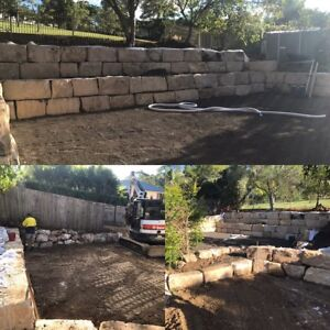 Sandstone retaining wall builders Oxley Brisbane South West Preview