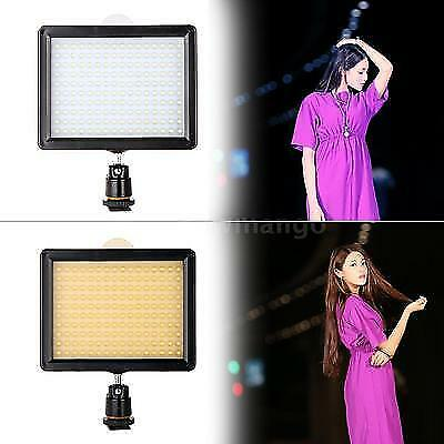UK 160 LED Video Light Studio Lamp for Canon Nikon Pentax DSLR Camera Camcorder