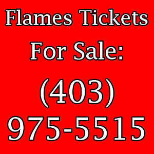 2/4 FLAMES TICKETS ALL GAMES - BLUES  - AVALANCHE  - 2nd Level