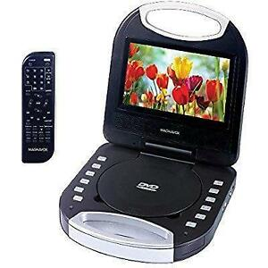 Magnavox 7-inch portable DVD/CD Player with Color TFT Screen & Remote Control-Black. $39.99 NO TAX.