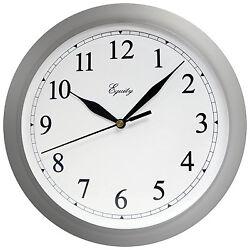 LA CROSSE TECHNOLOGY LTD Wall Clock, Quartz, Battery-Operated, White, 10-In.