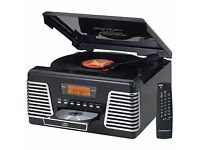 Crosley Record Player ~ Autorama CD Turntable with AM/FM Radio ~ Black