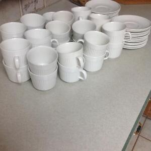 Athena cups and saucers, 30 sets