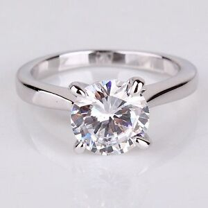 New in box white gold filled ring