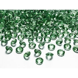 Diamond confetti, green, size 12 millimeters.(1 pkt / 100 pc.) £0.99 Plus P&P