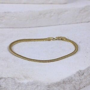 Sterling Silver 3mm Gold Plate Wheat (size 7) #3.27
