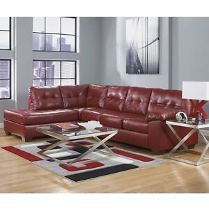 Alliston 2 Piece Sectional Red Couch / Sofa