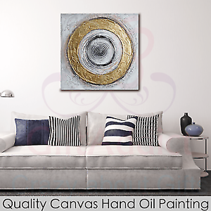 Framed Canvas Hand Oil Painting Abstract Circles Wall Art Home De Caulfield South Glen Eira Area Preview