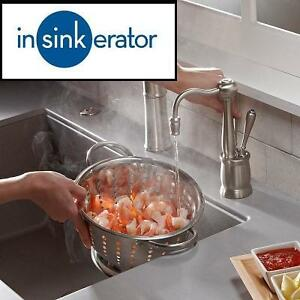 USED ISE HOT/COLD WATER DISPENSER - 123005516 - INSINKERATOR INSTANT HOT AND COLD KITCHEN FAUCET ANTIQUE SATIN NICKEL