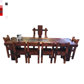 Old ship wooden tea table and Chair combination