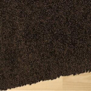 Shag Rug - chocolate brown, 7x11 feet