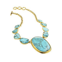 Great Gifts_Beauty Turquoise Necklace with Lip!