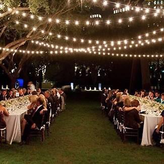 festoon lighting wedding party lighting rental outdoor