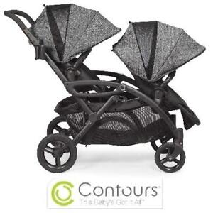 NEW ELITE TANDEM BABY STROLLER - 131845321 - CONTOURS OPTIONS TWIN DOUBLE GRAPHITE Baby Safety Health