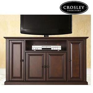 NEW* CROSLEY 48'' TV STAND MAHOGANY FINISH - ALEXANDRIA 105345487