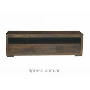 NEW Byron Solid Hardwood TV Entertainment Unit 3 Drawer 200cm Castle Hill The Hills District Preview