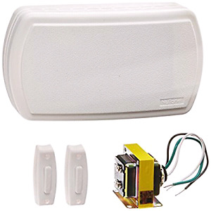 Broan BK125LWH NuTone Door Chime Kit (2 Lighted Push-Buttons, 1