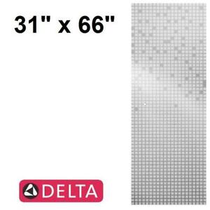 """NEW DELTA 31"""" MOZAIC SHOWER DOOR - 125817919 - FROSTED SQUARE GLASS PANEL BATH BATHS SHOWERS DOORS PANELS ALCOVE DIY ..."""