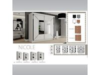 💖💖Don't Wait Order Now💖💖Brand New Nicole Sliding Wardrobe Order Same Day For Home Delivery💖💖