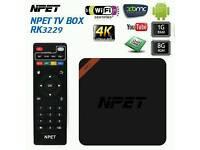 Fully loaded NPET RK3229 Android 5.1 RK1 KODI 16.1 TV Box 1G 8G, 100M Brand New...