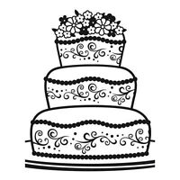Darice A2 FANCY CAKE (wedding) embossing folder - $8