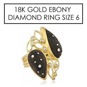 NEW* STAMPED 18K DIAMOND RING 6 - 129082193 - JEWELLERY JEWELRY 18K GOLD